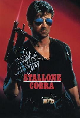 Sylvester Stallone Genuine Autographed 12x8inch photograph
