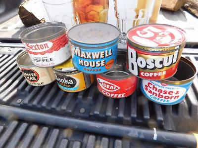 Antique Coffee tins_lot of seven brands