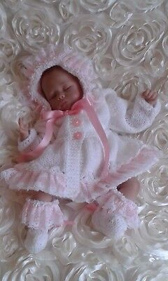 Reborn Doll / Baby Clothing / Hand Knitted / Premature / Romper / Matinee Coat