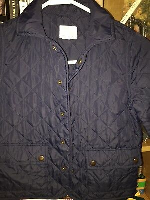 Crewcuts J Crew Kids Quilted Barn Jacket, Boys, 4/5, Navy Blue