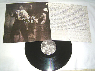 LP - Papa Wemba - 1988 OIS France Afro Funk # cleaned