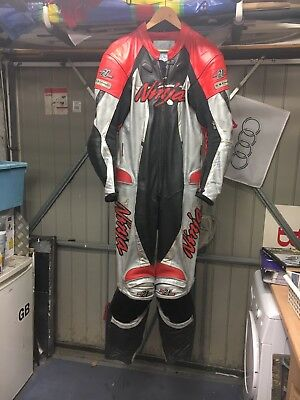 Kawasaki Official Licensed Race Motorcycle Leathers Size 42