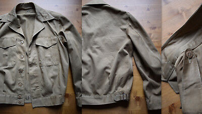 WWII 1940s USMC Vandegrift jacket cotton drill KD battledress Sz 36