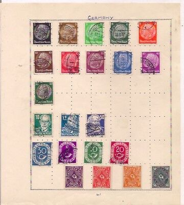 22 GERMANY stamps on an album page.