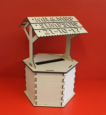 post box wishing well wedding and cellebrations card box, mdf kit