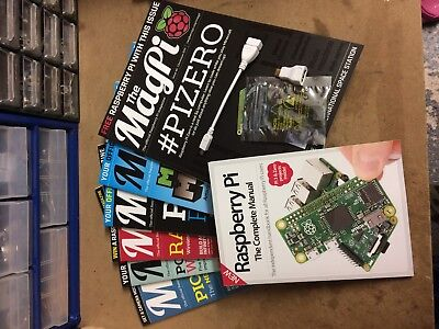 Raspberry Pi, Pi Zero, Set Of 6 MagPi Magazines, Raspberry Pi Manual