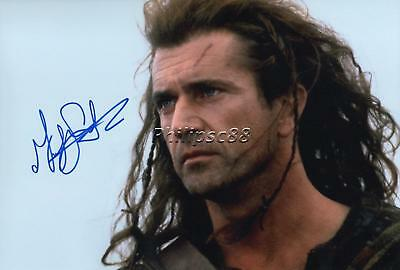"Mel Gibson ""Braveheart"" Genuine Autographed 12x8inch photograph"