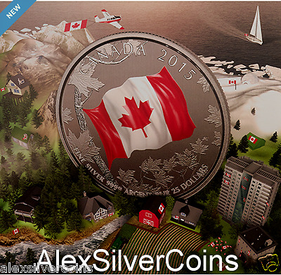 $25 for $25 Fine Silver Coin – 50th Anniversary of the Canadian Flag
