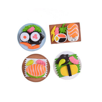 Sushi Bento Lunch For Miniature Dollhouse Handmade Food Home Kitchen Decor FG