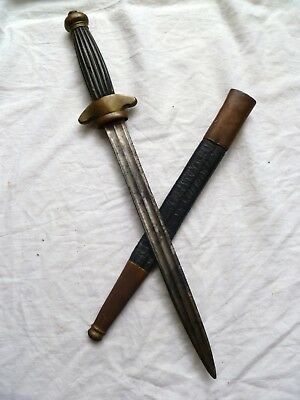 1800s ANTIQUE FRENCH NAVY OFFICERs DAGGER NAVAL SAILORS DIRK  no sabre sword