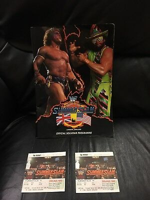 Summerslam 1992 Program And Ticket WWF