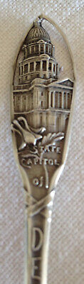 Antique 1890s Sterling Souvenir Spoon Denver Colorado Capitol Watson