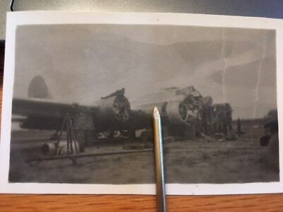 WWII Photo B-17 wreck photo in Italy partial tail number seen.