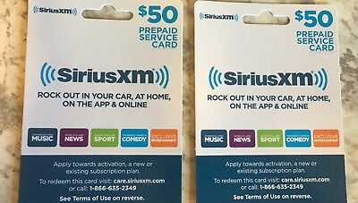 SiriusXM - $100 value Prepaid Service Card Satellite Radio Gift.
