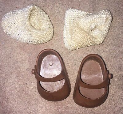 1950's Heeless Muffie Doll Shoes And Socks Nancy Ann Storybook