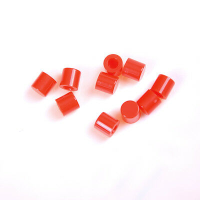 50x Push-botton Cap for 6x6mm Momentary Tactile Switches Key Caps Red FG