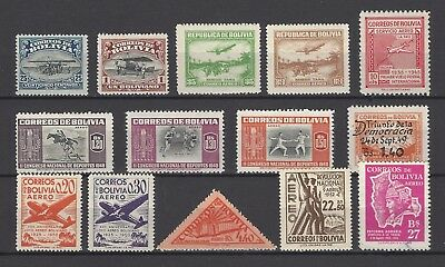 Bolivia 1924-54 Sc C3//177 Nice Airmail Mix MH NH Used Short Sets $18.35