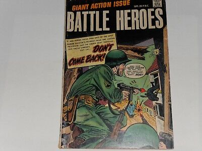 Battle Heroes #1, September 1966, Stanley Publications 25 Cents 68 Pages