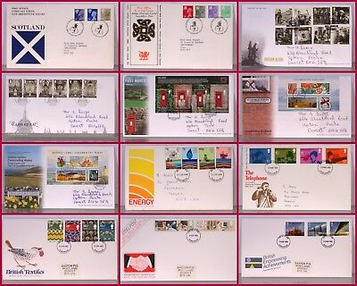 Various First Day Covers 1970's until present- only 10p each additional item P+P