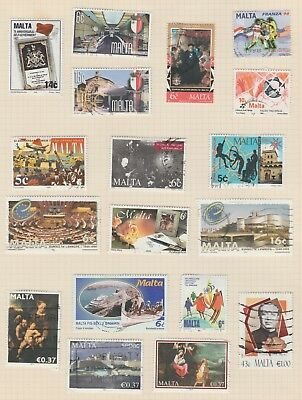 Stamps - Malta - from 1990 - 2 pages