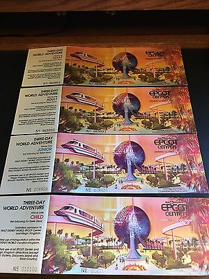 Walt Disney World EPCOT Center UNUSED NEW Special Edition Commemorative Vouchers