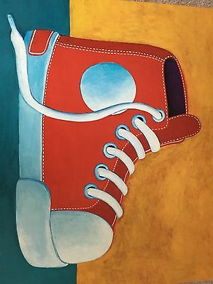 Oopsy Daisy Max Grover Canvas Art Red Shoe