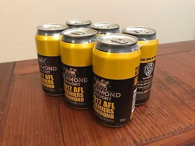 Richmond Tigers 2017 Premiership Beer Can - Limited Edition 6 Pack