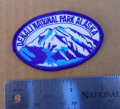 Vintage Denali Nstional Park Alaska Travel Souvenir Embroidered Fabric Patch