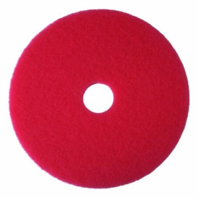 "3M Red Buffer Pad 5100, 13"" Floor Buffer, Machine Use (Case of 5)"