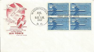 C49 Us Air Force Block Of Four Air Mail Fdc - House Of Farnam Cachet