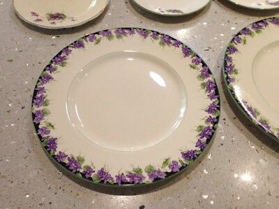 royal doulton violet design plates