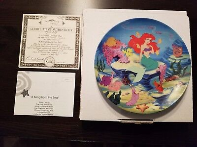 """Disney Plate - """"A Song From the Sea"""" - Mint - C of Auth. - Little Mermaid"""
