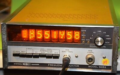 FREQUENCY COUNTER 20Hz - 3GigHz SYSTRON DONNER  # 6053 w/NIXIE TUBES Ham Radio