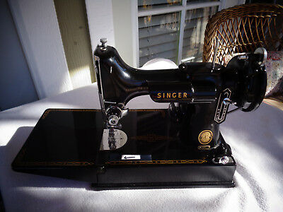 1956 Singer 221 Featherweight Sewing Machine with Case & Accessories  NICE