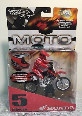 HOT WHEELS MOTO #5 Mike LaRocco Supercross diecast 2005 NIB