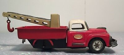 Vintage 1954 Tin Litho Friction Toy Wrecker Truck by SSS Japan
