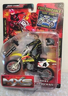 2005 Road Champs Customizable MXS Ricky Carmichael Take Apart Rebuild Motorcycle