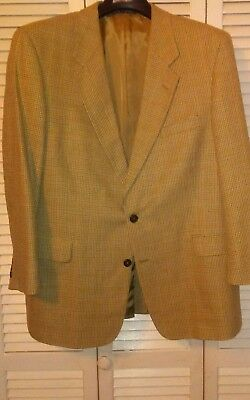 TravelSmith Houndstooth Wool Silk Blend Sport Coat Blazer Jacket Mens 44 R
