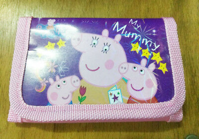 Peppa Pig Children Coin Money Pouch Bags Purse Wallet Xmas Birthday Gift purple