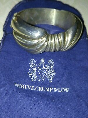 Bracelet Shreve Crump & Low 925 sterling 76 gr. silver fine jewelry free ship