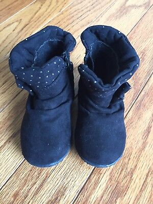 Children's Place Girls Black Boots Size 5 NEW