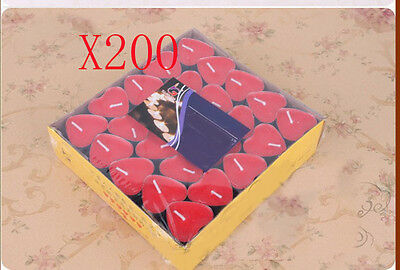 200X Wedding Party Romantic Heart-Shaped Red Candles Wholesale Lots 200 PCS
