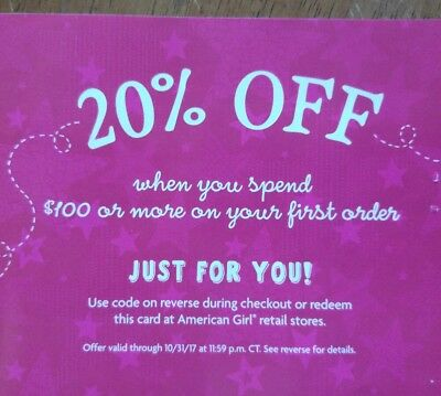 American Girl Coupon Save 20% OFF $100 Purchase EXP 10/31/17