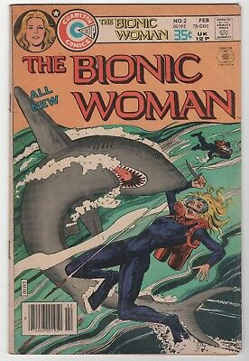 The All New Bionic Woman #2 Charlton Comics Feb. 1978 In Very Good 4.0 Condition