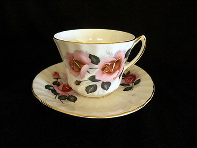 Royal Sutherland Fine Bone China Straffordshire England Floral Cups and Saucers