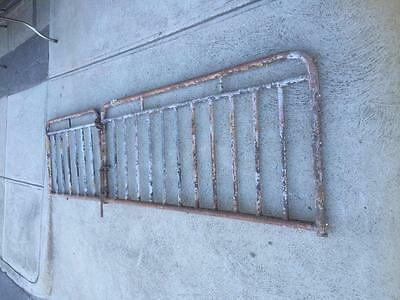 Vintage Galvinised Wrought Iron Metal Piping Fence Gate 271Cm Wide X 71Cm Tall