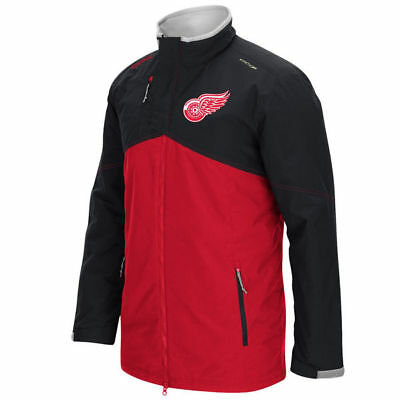 Detroit Red Wings NHL Reebok Men s Center Ice Midweight Full Zip Jacket  150 2fb502494