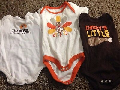 Thanksgiving Baby One piece 3-6 months