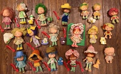 Lot Vintage Strawberry Shortcake Doll Pet Party Pleasers 1979 American Greetings