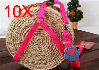 Practical Bust 25*58 CM Rope 120 CM Pink Nylon Leash Wholesale Lots 10 PCS